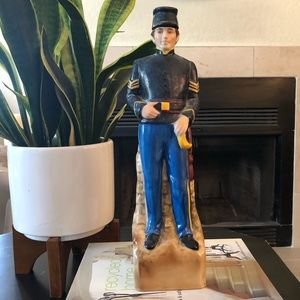 RARE Vintage Ceramic Civil War Soldier DECANTER